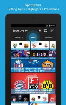 Sport TV Live - Live Score - Sport Television screenshot 4