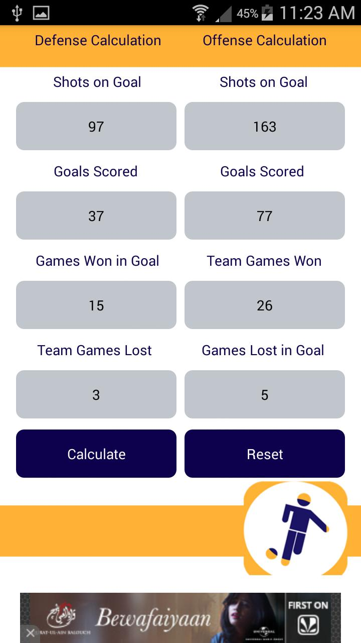 Football Stats Calculator for Android - APK Download