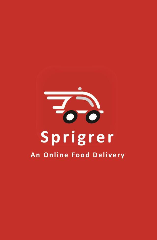 Sprigrer Food Order & Delivery poster