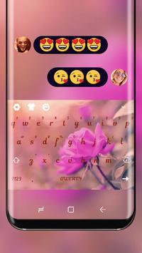 Spring Pink Flower Keyboard Sakura Theme poster