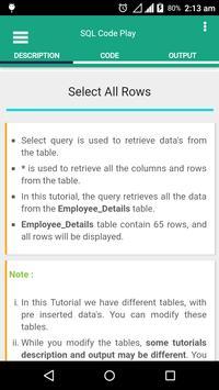 SQL Code Play screenshot 3
