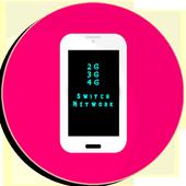 2G 3G 4G Switch Network icon