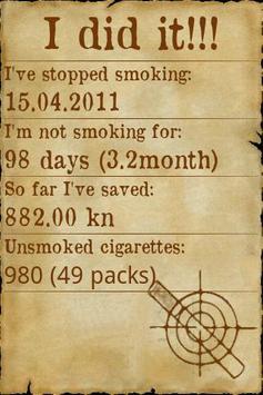 Smoking free poster