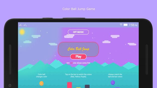 ColorBallJump Game poster