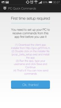 PC Quick Commands apk screenshot