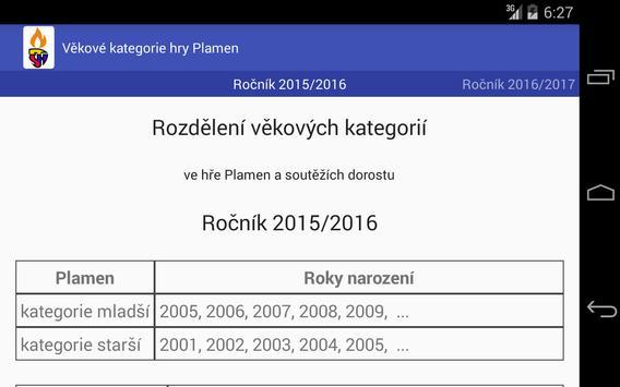 Rozdělení věkových kategorií screenshot 9
