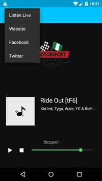 Motorsport Raceway Radio poster