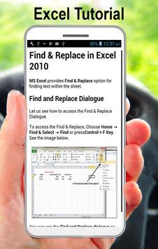 MS Excel Tutorial (A to Z) apk screenshot