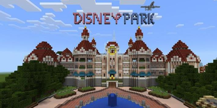 Map Disneyland For MCPE APK Download Free Entertainment APP For - Disneyland map fur minecraft pe