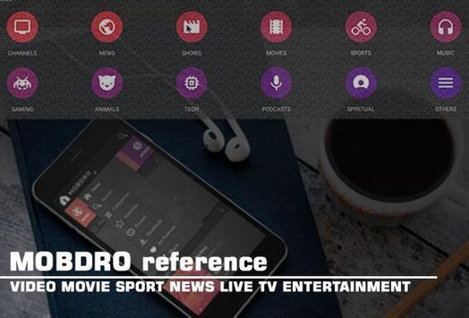 TV Mobdro Reference apk screenshot
