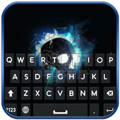 Neon Skull Keyboard icon