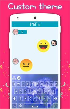 Blue Flower Keyboard screenshot 1