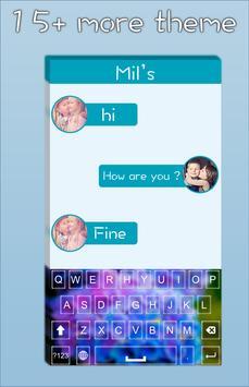 Blue Flower Keyboard screenshot 3
