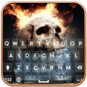 Fire Skull Keyboard icon