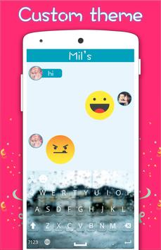 Rainy Glass Keyboard apk screenshot