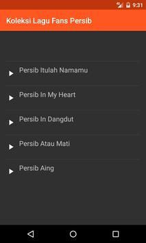 Koleksi Lagu Fans Persib screenshot 1