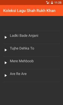Koleksi Lagu Shah Rukh Khan screenshot 1