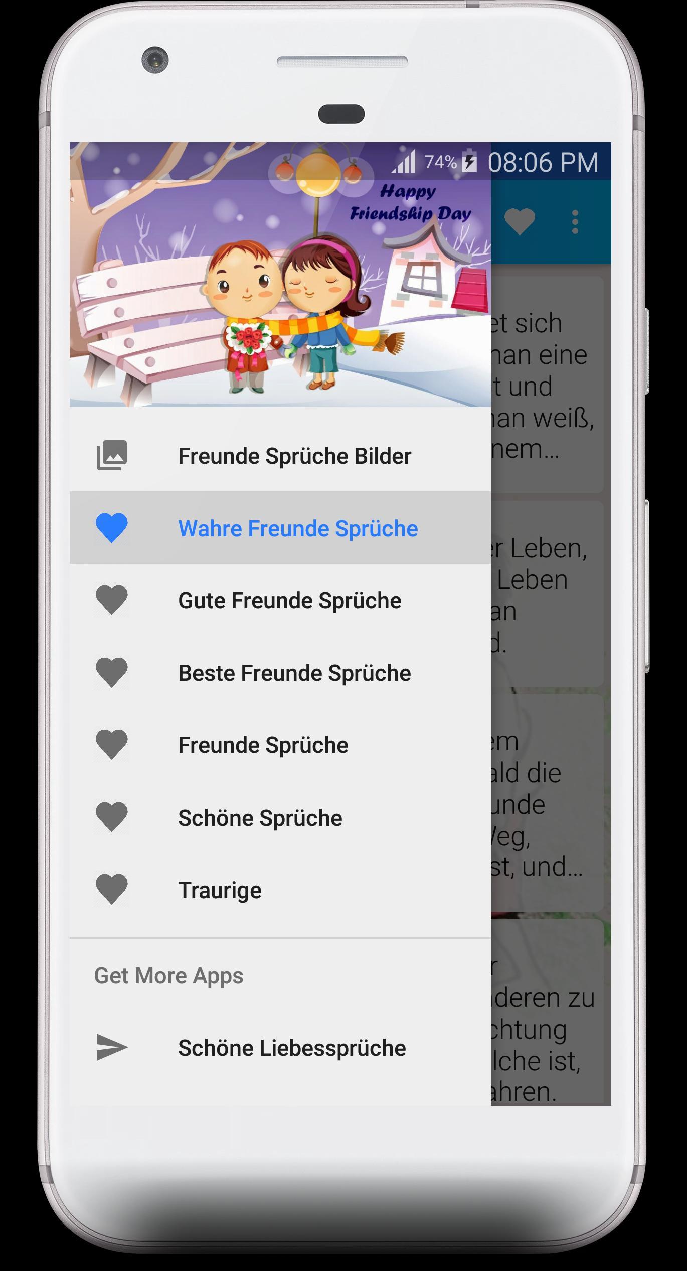 Freundschaft Sprüche для андроид скачать Apk