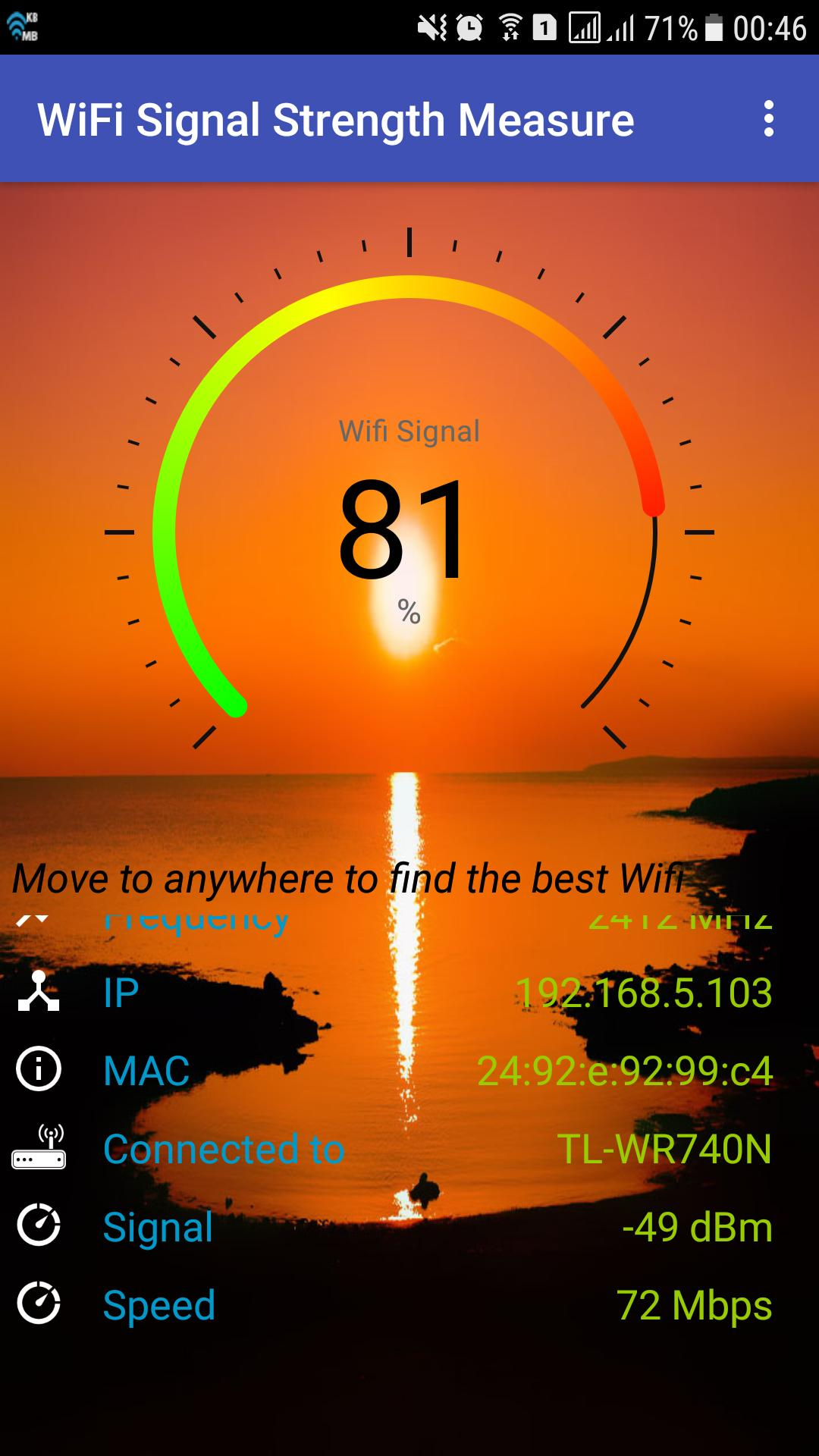 WiFi Signal Strength Measure for Android - APK Download