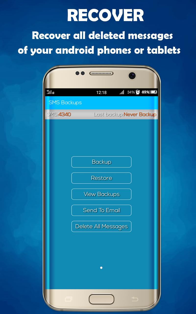 Recover Deleted Text Message - SMS recovery for Android