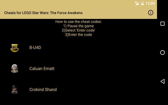 Cheats for LEGO Star Wars: TFA APK Download - Free Entertainment APP ...
