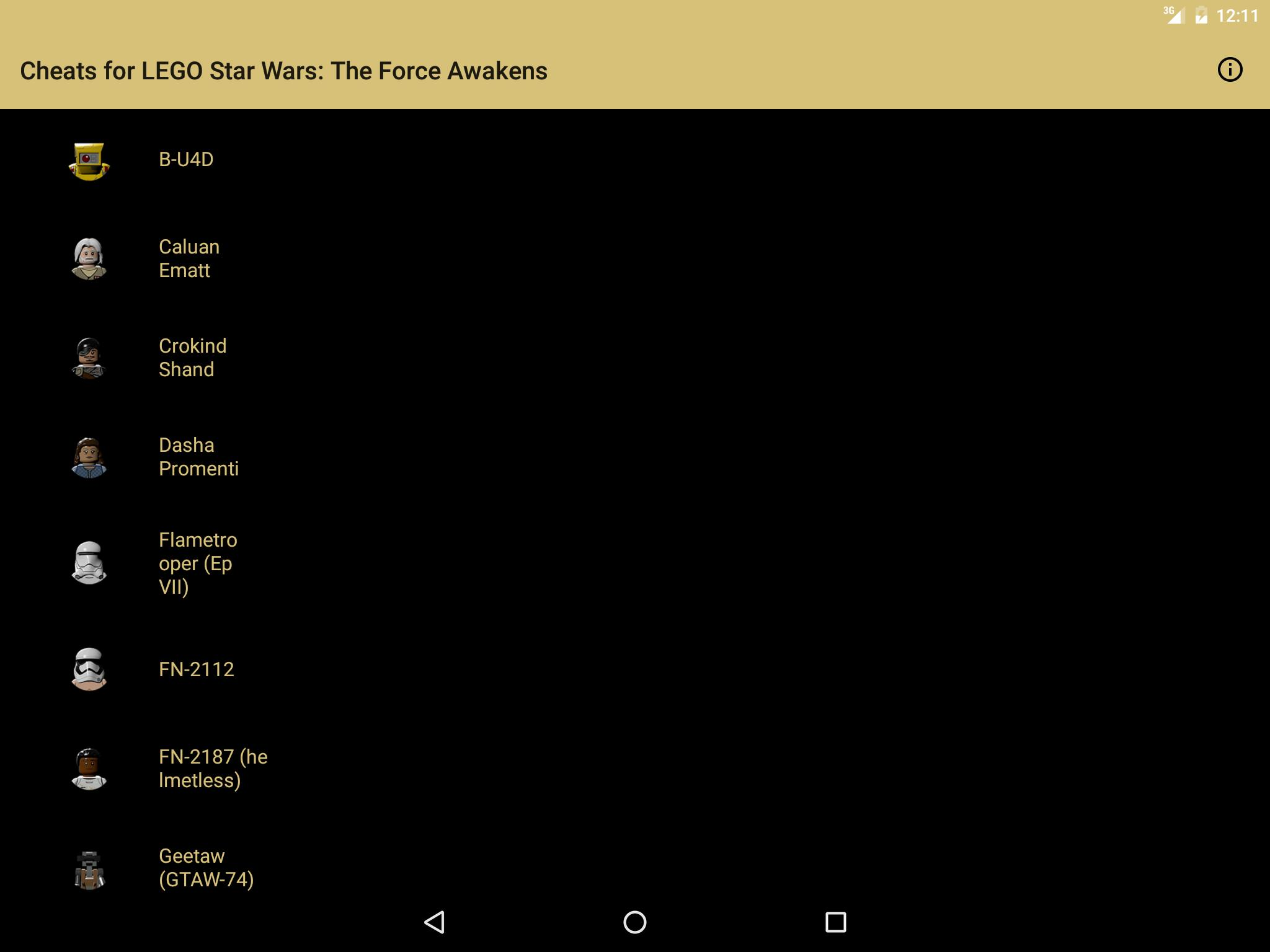Cheats for LEGO Star Wars: TFA for Android - APK Download