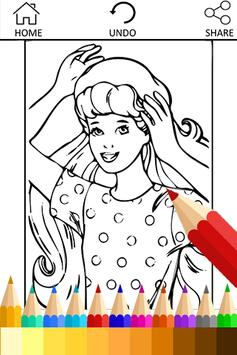 Coloring Book for barbi Fans poster