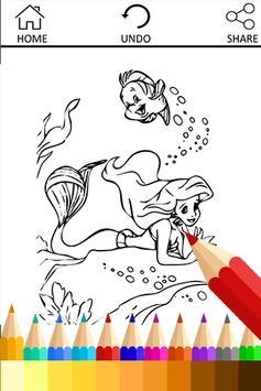 Coloring Book Mermaid Princess poster