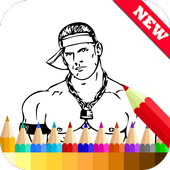 Coloring Book for WWE Fans icon