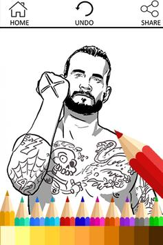 Coloring Book for WWE Fans poster