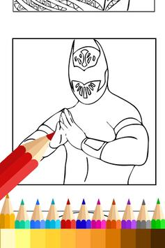 Coloring Book for WWE Fans apk screenshot