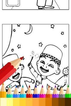 Coloring Upin Book Ipin Pages apk screenshot