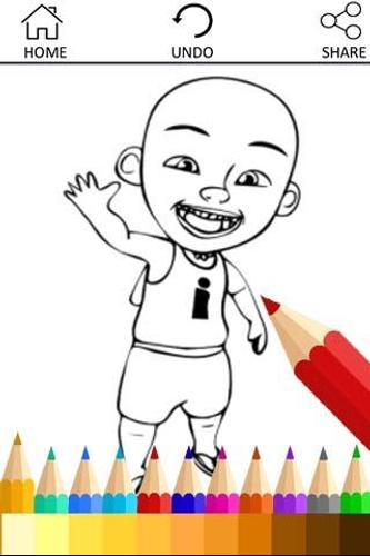Coloring Upin Book Ipin Pages Poster