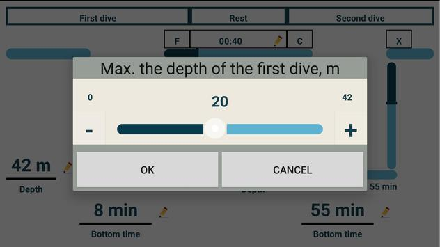 Dive Planner (Dive Profile) screenshot 2