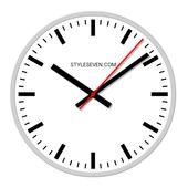 ikon Swiss Analog Clock-7