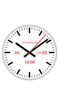 Swiss Analog Clock-7 poster