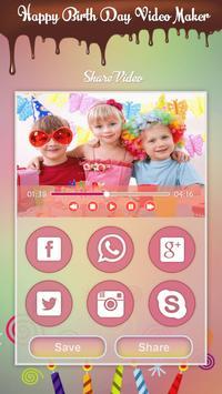Birthday Photo Video Maker With Music 2017 apk screenshot