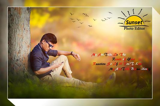 Sunset Photo Frame / Sunset Photo Editor poster