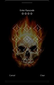 Fire Skulls Lock Screen apk screenshot
