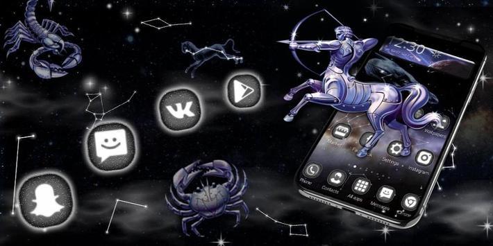 3D Star chart Twelve constellations Theme screenshot 3