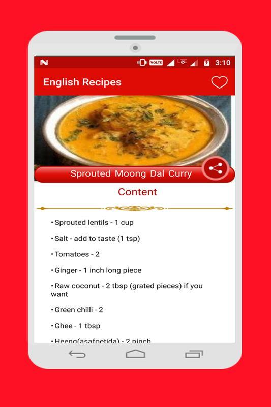 Food recipes descarga apk gratis comer y beber aplicacin para food recipes captura de pantalla de la apk forumfinder Images