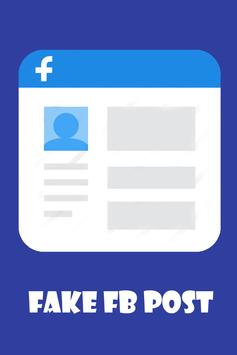 Fake FB Post Creator 2018 apk screenshot