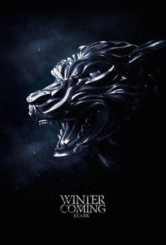 Winter Is Coming Stark poster