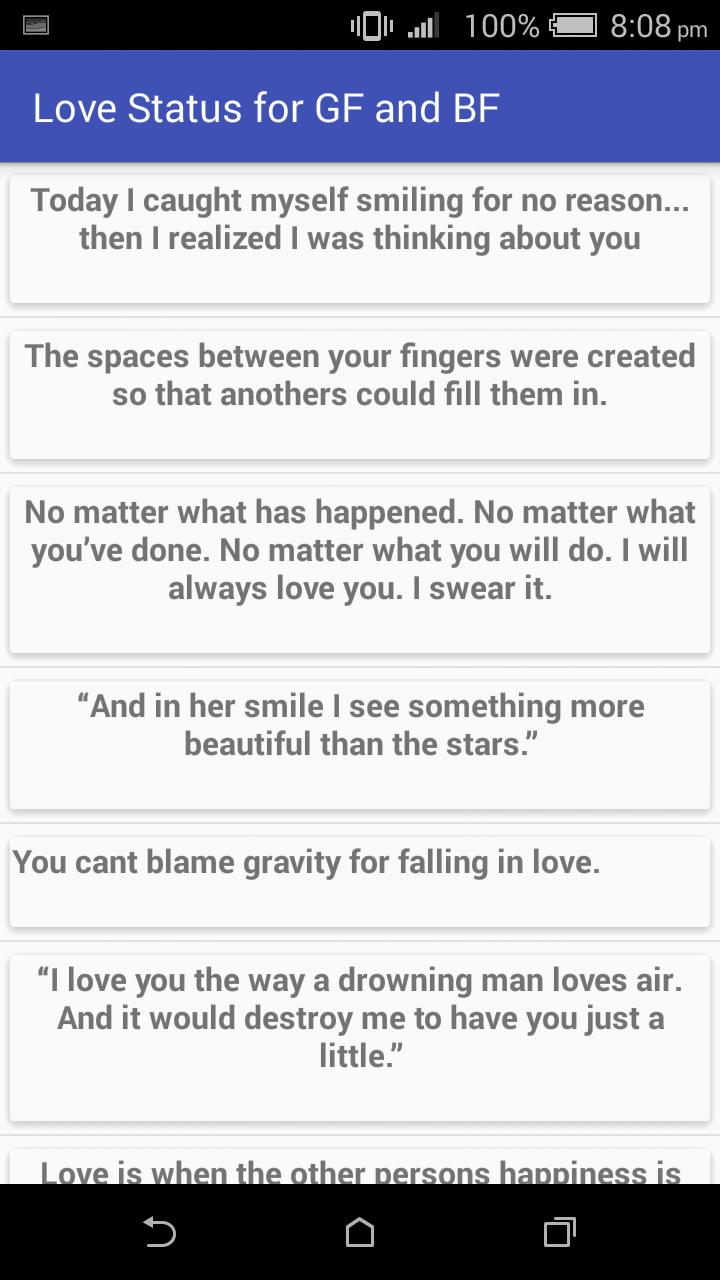 Love Status & Quotes GF & BF for Android - APK Download