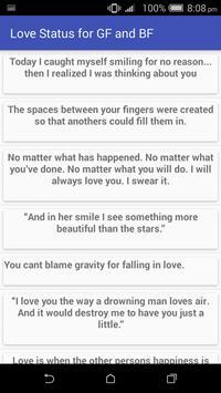 Love Status & Quotes GF & BF screenshot 4