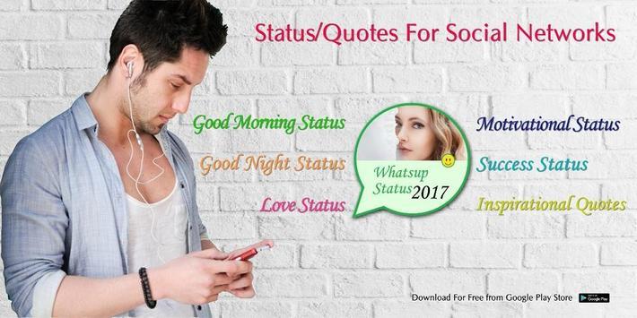 Motivational Status For Social Networks 2018 poster