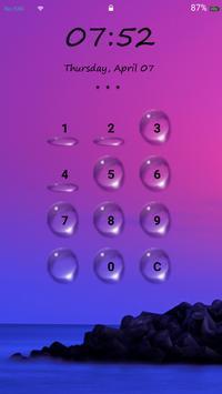 Lock Screen - Water Drop poster