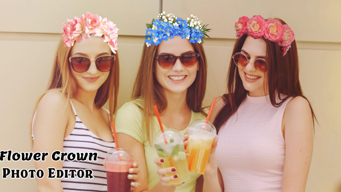 Flower crown photo editor for android apk download flower crown photo editor poster izmirmasajfo