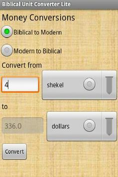Biblical Unit Conversion Lite apk screenshot