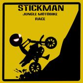 stickman jungle motobike race icon